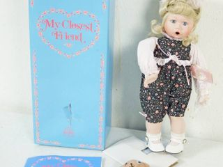 Vintage Precious Moments Doll w  Stand  My Closest Friend