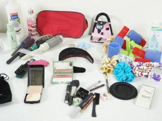 lot of Beauty   Hair Accessories  Make up  Shampoo  Brushes  and More  See Photos