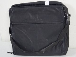 Very Nice Black leather Computer Bag   DOMA Quality leather Outback Gear