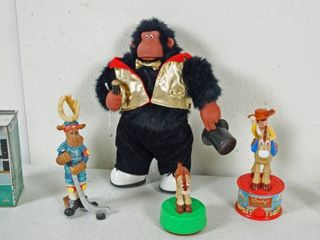 Dancing   Singing Monkey  3 Vintage McDonalds Toy Story Figurines and More  See Photos