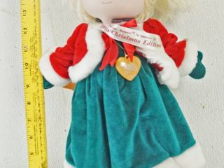 Vintage Collectible  Precious Moments Doll  w  Wood Stand