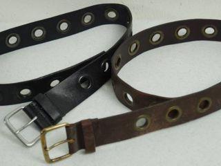 lot of 2  Nice leather Belts  Size Medium