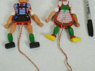 Framo Wood Boy and Girl  Moving Toys  Made in Austria   Great Find