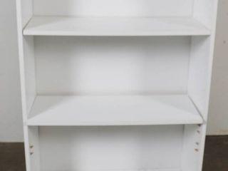 White 3 Shelf Bookcase  48  Tall  30  Wide    12  Deep