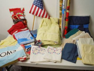 lot of Misc  Items   Towels  Shams  Beautiful Embroidered Flower  Heart Pillow Cases  and Much Much More