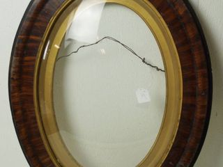 Vintage  Very Cool  Oval Picture Frame   Glass is Uniquely Beveled  25  Tall x 18 1 2