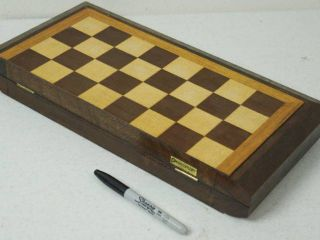 Wood Chess Game Board   Wooden Pieces Storage Inside   Magnetic Closure   NICE