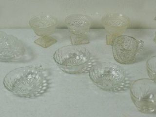 lot of Clear Vintage Glassware