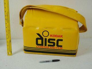 Vintage Kodak Disc  Yellow Carrying Bag  Pretty Cool