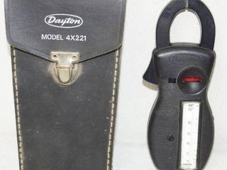 Vintage Dayton Amp Reader w  leather Case   Model 4x221