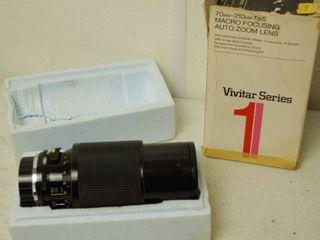 Vintage Vivitar lens Series 1  Macro Focusing Auto Zoom lens  w  Original Box