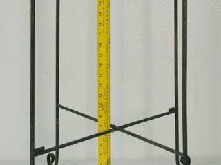 Green Metal Folding Table 27  Height