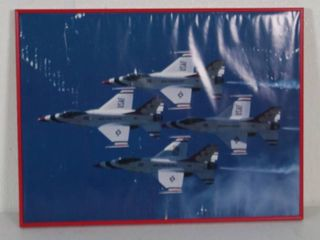 Red Framed Aircraft  Wall Hanging Picture