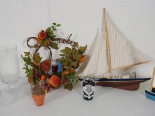 lot of Vases  Flower Arrangement  Ships  etc