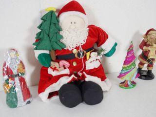lot of Christmas Decor  Santa Clauses  Santa Candle and More