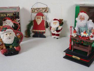 lot of Christmas Items  Cookie Jar w Original Box  Christmas Wall Hanging  Holiday Scene  Play Your Favorite Christmas Carols  w  Original Box    More  See Photos