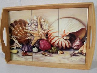 Sea Shell  Cermic Tile Tray  See Photos