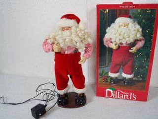 Dancing Santa  Play Christmas Music  w  Original Box