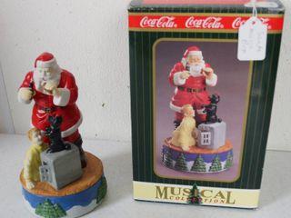 Coca Cola  Musical Collection Santa Claus  w Original Box