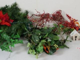 lot of Christmas Decor  Greenery    Flowers  White Bear Angel    More  See Photos