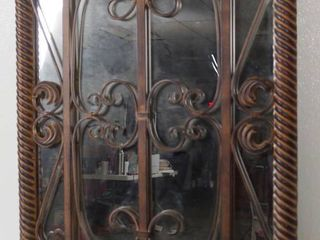 Iron Framed Mirror Wall Hanging  approx  241 2 Wide and 38  long