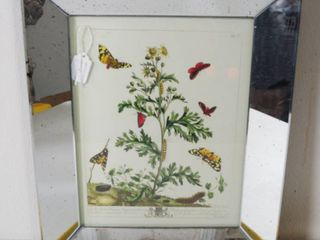 Beautiful Vintage  Butterfly  Mirror  Wall Hanging Picture  Two s Company