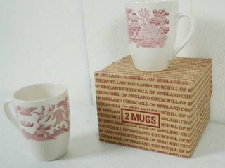 Pair of CHURCHIll OF ENGlAND   Coffee Mugs  Made in England   Original Boxes