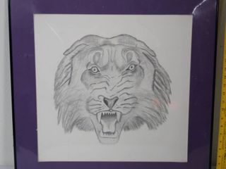 Purple Framed   lion Picture   Wall Hanging Frame