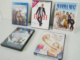 lot of DVD Movies   Hobbit  Hitch  Mamma Mia  Unfortunate Events  Uptown Girls
