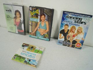 lot of Work Out DVDs  and Dancing with the Stars  Dance off the Pounds and Wii Sports Game