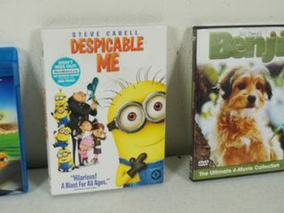 lot of 4 DVD s   Turbo  Despicable Me  Benji and P S  I love you