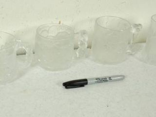 lot of McDonalds Collectible Glass Mugs   includes BATMAN FOREVER