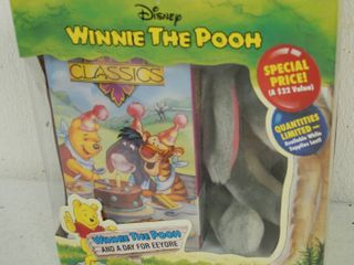 Vintage Disney Winnie the Pooh and a Day for Eeyore   Video and Plush Toy   In Original Box