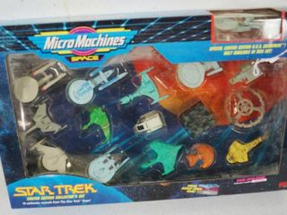 Vintage Star Trek   The Original Micro Machines Scale Miniature Space   limited Edition Collectors Set  In Original Box  1993