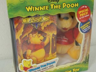 Vintage Disney Winnie the Pooh and the Honey Tree   Video and Plush Toy   In Original Box