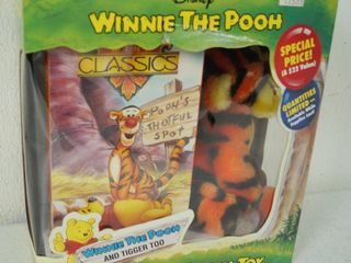 Vintage Disney Winnie the Pooh and Tigger Too   Video and Plush Toy   In Original Box