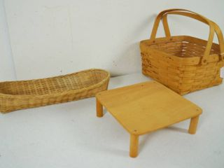 lot of Baskets  one w  the Handle is a longaberger Basket  Very Nice