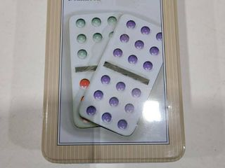 Domino double 9  colored dots 55 piece set