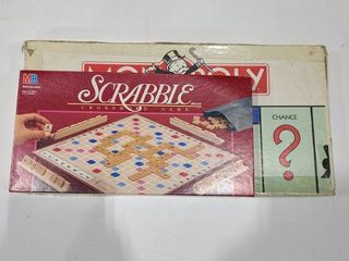 Scrabble and Monopoly game
