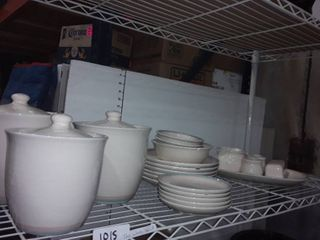 27 pcs  Pfaltzgraff dinner ware and Canister Set