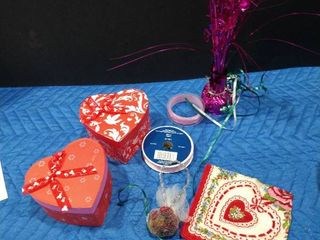 Assorted Valentine s Day boxes  ribbons and more