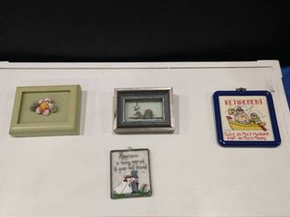 Assorted small framed home art