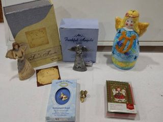 Elements Special Friend   Faithful Angels ornaments  angel pins  mini greeting cards with envelopes and a angel candle holder