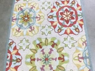 At Home suzani ivory floral rug 54 x 32 in