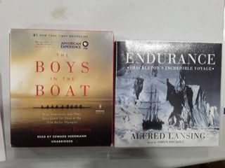 2 Audible Books  The Boys in the Boat and Endurance  Shackleton s incredible voyage