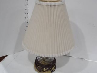 Small brass and glass table lamp
