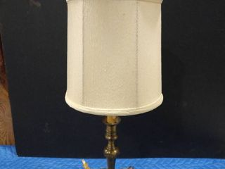Table lamp with ivory colored shade