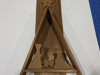 Wooden Nativity display