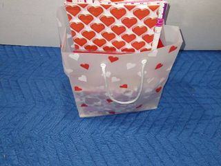 Valentine s Day bags  pan  plates and napkins