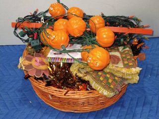 Assorted Halloween and Thanksgiving decor